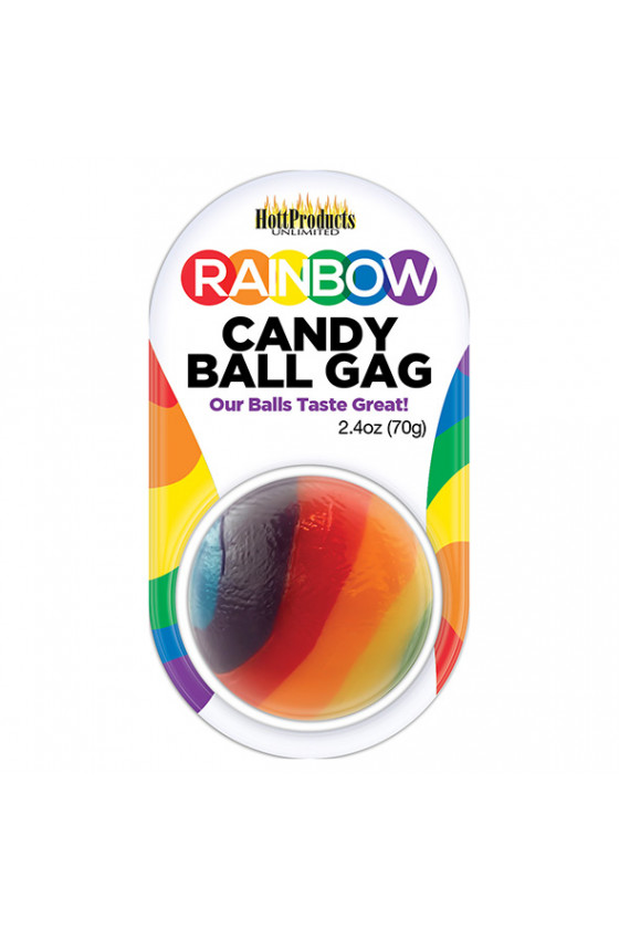 KNEBEL Z KULKĄ RAINBOW CANDY BALL GAG