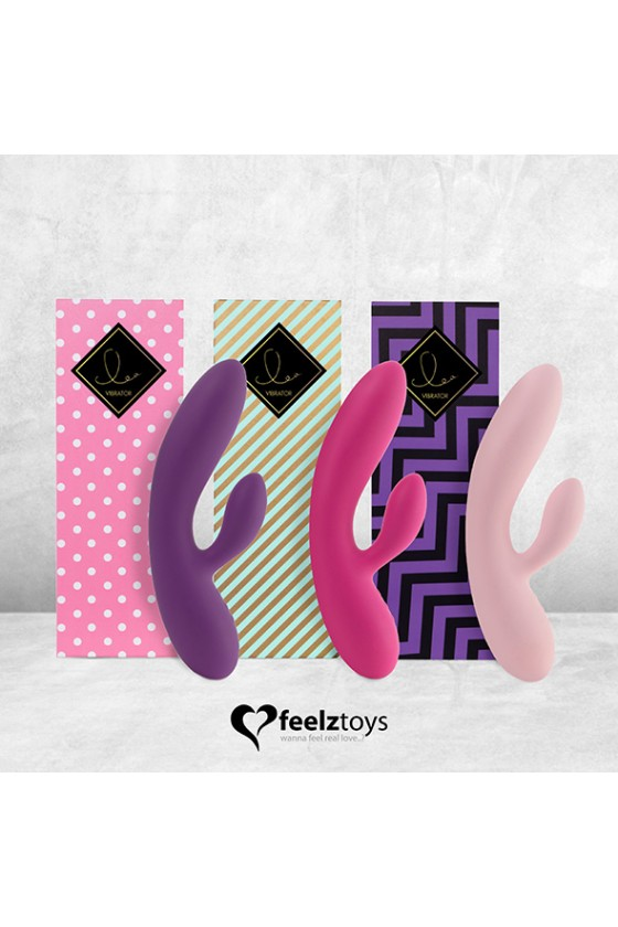 Feelztoys Lea Lovely&Natural Fuksja + Satisfyer Double Joy