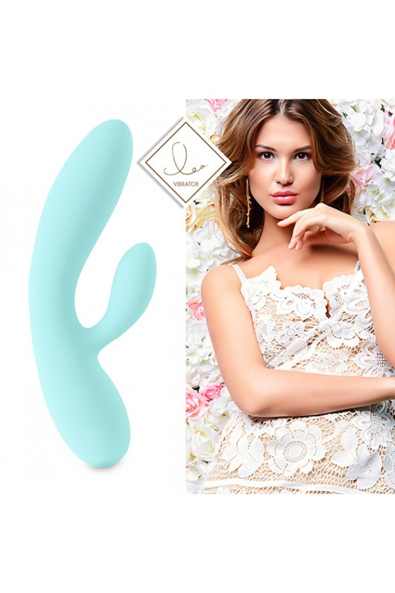 FEELZTOYS LEA FASHION&DESIGN BŁĘKITNY + SATISFYER DOUBLE JOY
