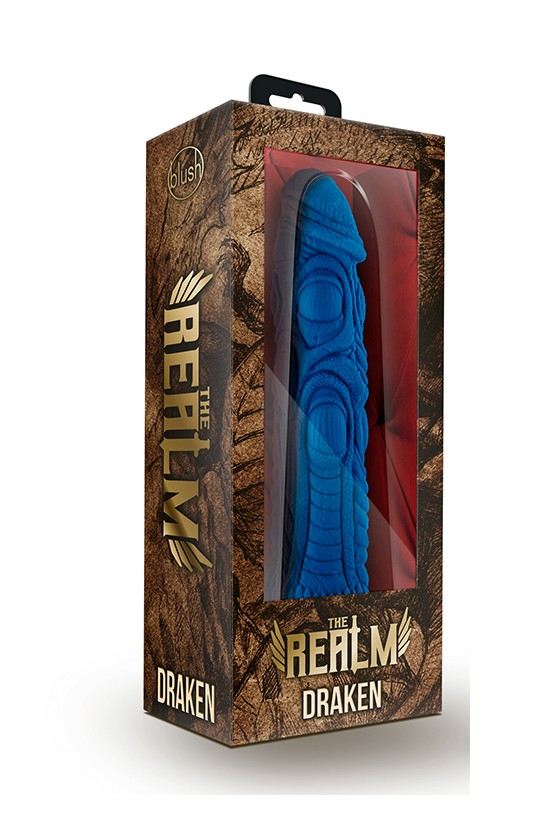 Nakładka na dildo Blush The Realm Draken Lock On Dildo Blue