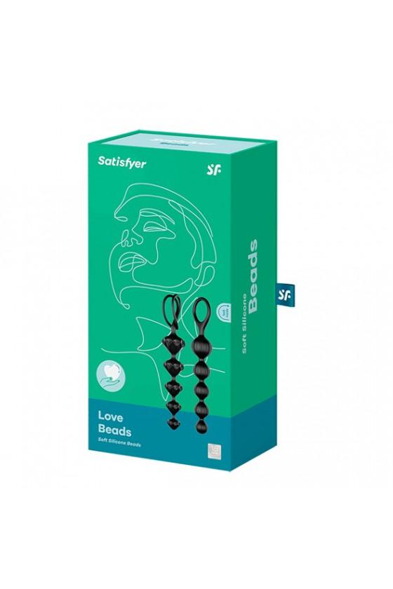 Koraliki analne Satisfyer Love Beads Black