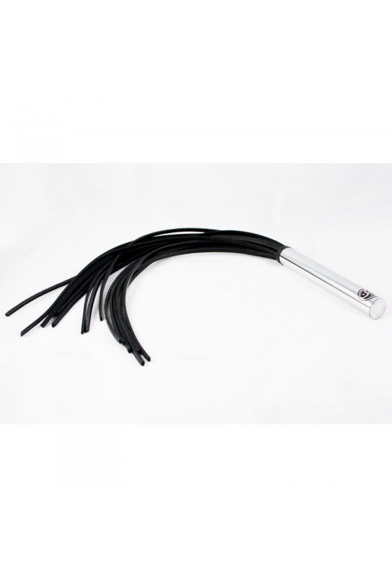 "SKÓRZANY FLOGGER DARK SPANKING ""DOUBLE BLACK"" LEATHER SEDUCTION"